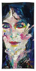 Hand Towel featuring the painting Let's Feel Alive by Fabrizio Cassetta