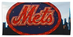 Lets Go Mets Bath Towel by Richard Bryce and Family
