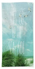 Let's Go To The Sea-side Hand Towel by Jan Amiss Photography