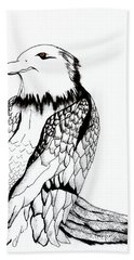 Let's Prey Eagle Hand Towel