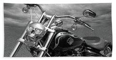 Let's Ride - Harley Davidson Motorcycle Hand Towel by Gill Billington