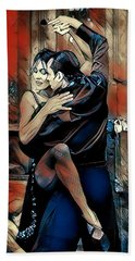 Hand Towel featuring the digital art Let's Tango by Pennie McCracken