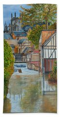 L'eure A Louviers -  France Bath Towel