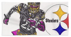 Le'veon Bell 2 Hand Towel by Jeremiah Colley