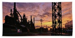 Hand Towel featuring the photograph Levitt Pavilion by DJ Florek