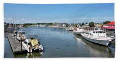 Hand Towel featuring the photograph Lewes Delaware by Brendan Reals