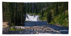 Lewis Falls Yellowstone Bath Towel