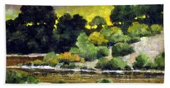 Lewis River At Woodland Hand Towel