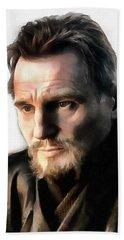 Liam Neeson Hand Towel by Sergey Lukashin