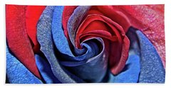 Bath Towel featuring the photograph Liberty Rose by Judy Vincent