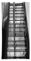 Hand Towel featuring the photograph Library Skyway by Rona Black