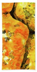 Lichen Abstract Bath Towel