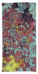 Lichen Colors Bath Towel by Todd Breitling