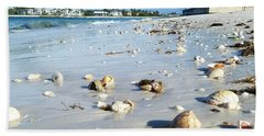 Bath Towel featuring the photograph Lido Beach Sea Shells 1 by Lou Ann Bagnall