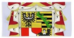 Liechtenstein Coat Of Arms Bath Towel by Movie Poster Prints