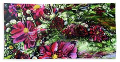 Life In A Bloom Field Bath Towel