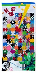 Life Is A Puzzle Bath Towel