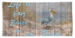 Life Is Easy Breezy At The Beach Hand Towel by Nina Bradica