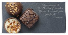Life Is Like A Box Of Chocolate Forest Gump Quote Hand Towel