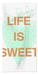 Life Is Sweet- Art By Linda Woods Hand Towel
