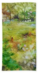 Hand Towel featuring the painting Life Lessons by Judith Rhue