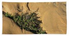Life On Bare Rock - Diagonal Crack With Herbs Bath Towel