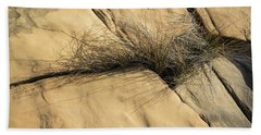 Life On Bare Rock - Wire Grass In The Cracks Bath Towel