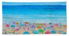 Life On The Beach Hand Towel by Jan Matson