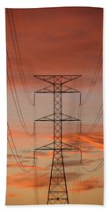 Life On The Grid Hand Towel