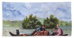 Life On The Missouri River Bath Towel