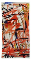 Life Should Be Filled With Spontaneity Hand Towel by Mary Carol Williams