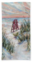 Lifeguard Chair And Dunes Hand Towel