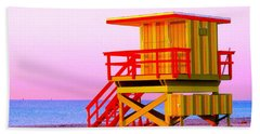 Lifeguard Stand Miami Beach Hand Towel