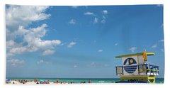 Lifeguard Station Miami Beach Florida Bath Towel
