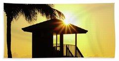 Lifeguard Station Sunburst Delray Beach Florida Bath Towel