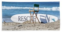 Lifeguard Surfboard Rescue Station  Hand Towel