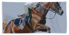 Horse Jumper Hand Towel