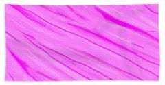 Light And Dark Pink Swirl Hand Towel by Linda Velasquez