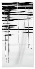 Light And Shadow Reeds Abstract Bath Towel