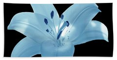 Light Blue Lily Hand Towel