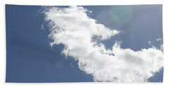 Light In Cloud Flare Hand Towel