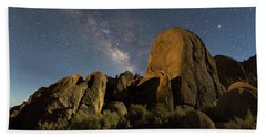 Light Painted Rocks In The Hills Bath Towel