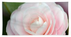 Light Pink Camellia Flower Bath Towel