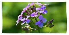 Bath Towel featuring the photograph Light Purple Flowers  by Lyle Crump