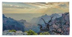 Light Seeks The Depths Of Grand Canyon Bath Towel