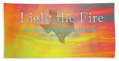Light The Fire Hand Towel by Cheryl McClure