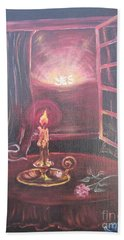 Flying Lamb Productions      Light The Yes Candle Bath Towel