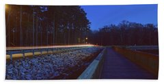 Light Trails On Elbow Road Hand Towel