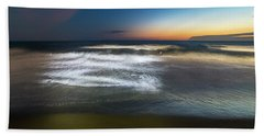 Light Waves At Sunset - Onde Di Luce Al Tramonto II Hand Towel
