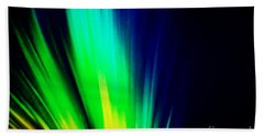 Bath Towel featuring the mixed media Lightburst by Writermore Arts